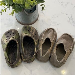 Size 7 toddler crocs. Selling as a lot.